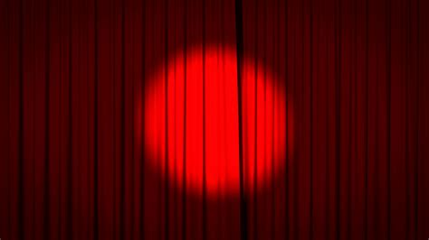 reveal curtain realistic animation of a red curtain with spotlight