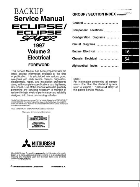 car repair manual download 2004 mitsubishi eclipse windshield wipe control 97 99 mitsubishi eclipse electrical manual troubleshooting electrical connector