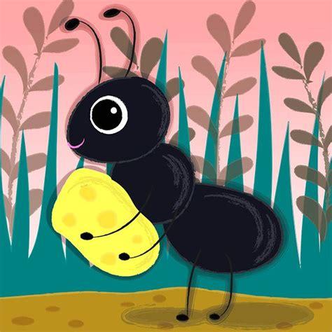 cute ant illustration  liv wan creations