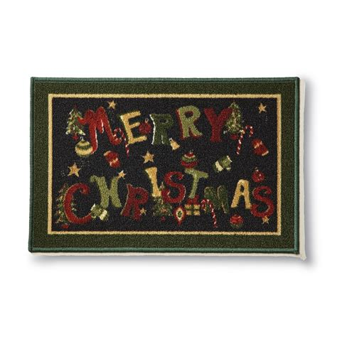 christmas accent rugs colormate merry christmas winter accent rug shop your