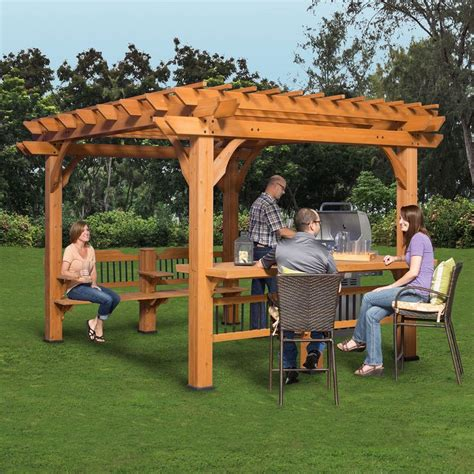 Backyard Discovery Oasis Pergola Oasis 12 X 10 Pergola Put Together Bar And Decks