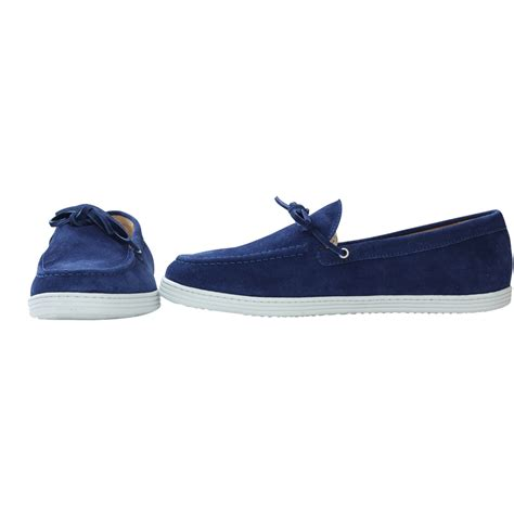 blue suede loafers for bobbies le coureur suede loafers in blue for lyst