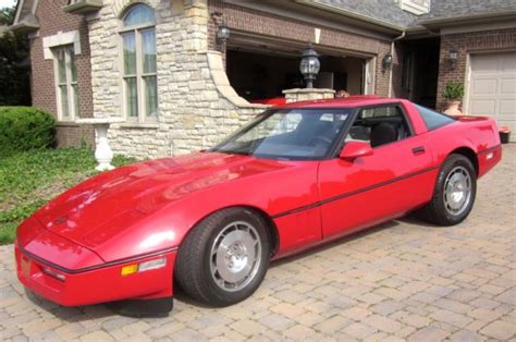 1986 red corvette 4 3 manual transmission one owner 53 124 miles beautiful co