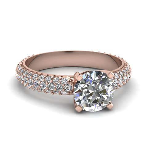 carat diamond micropave vintage engagement ring