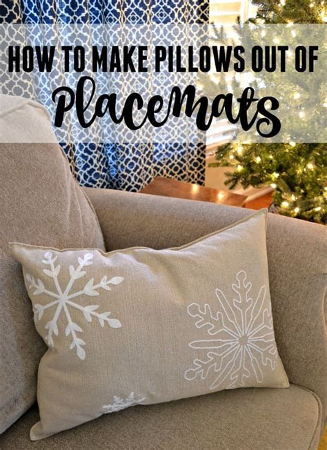 How To Make Pillows by How To Make Pillows Out Of Placemats