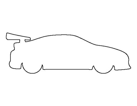 car template printable race car pattern use the printable outline for crafts