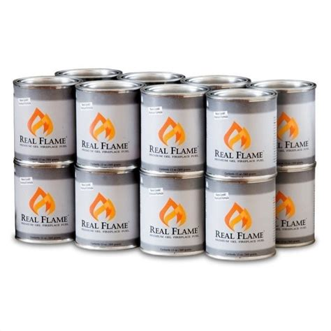 fireplace gel cans real real gel fuel 13 oz cans 16 pack 2116