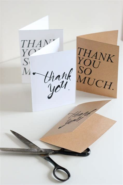 printable thank you card template free thank you cards print free