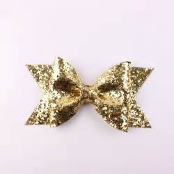 large gold glitter bow clips fabric bow hair clip for
