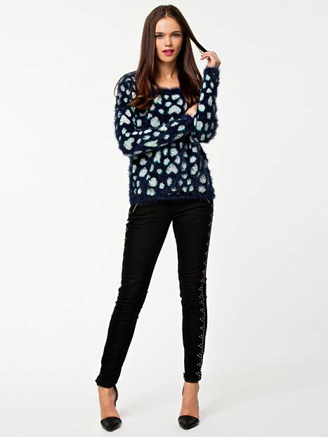 Feather Ls by Leopard Feather Ls Boatne Vero Moda Peacoat Jumpers Cardigans Clothing Nelly