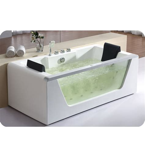whirlpool bathtub reviews eago am196 6 foot clear rectangular whirlpool bath tub for two with fixtures
