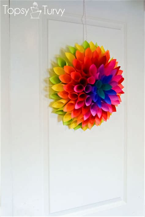 marie paper flower tutorial neon paper dahlia ashlee marie real fun with real food