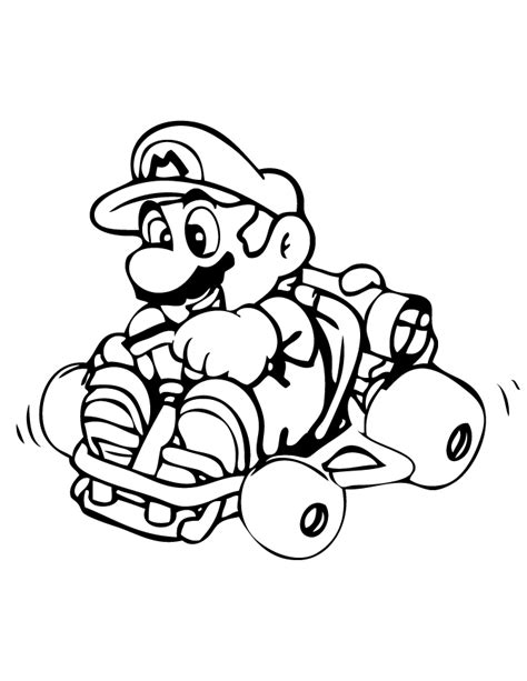 22 Dessins De Coloriage Mario Kart 224 Imprimer Sur