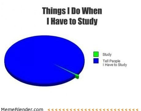 Funny Study Memes - the 21 funniest pie charts about school smosh