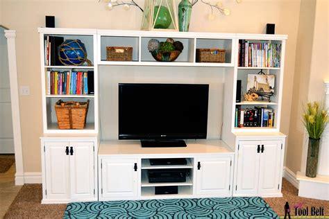 entertainment center pb media center plan  tool belt
