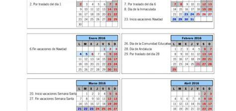 Calendario Escolar Andalucia 2015 Y 2016 Papanoara
