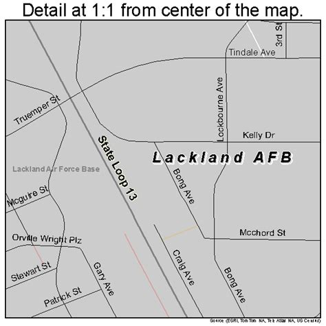 afb in texas map lackland afb texas map 4840036