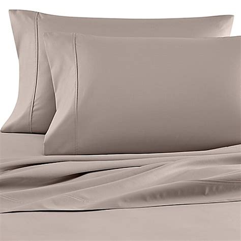 bed bath and beyond egyptian cotton sheets buy wamsutta 174 620 egyptian cotton deep pocket twin sheet set in silver from bed bath