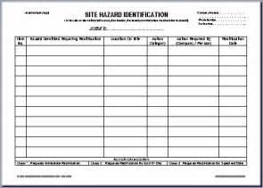 Msds Template Australia by Hazard Register Template Employee Equipment Register