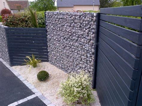 Pergola Aluminium Pour Terrasse 943 by Cloture Avec Alternance Gabion Palissade Bois Ext 233 Rieur