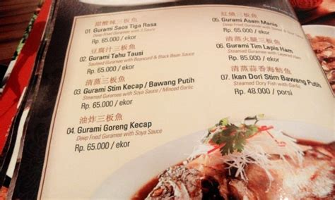 menu harga makanan price list moi village chinese food enak surabaya barat cocok  family