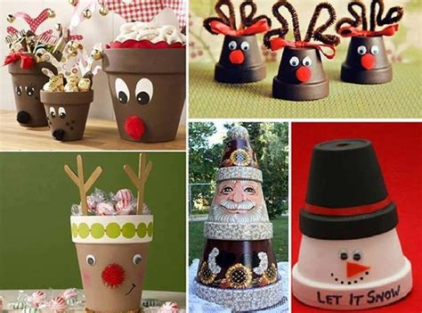diy clay pot christmas crafts beesdiy com