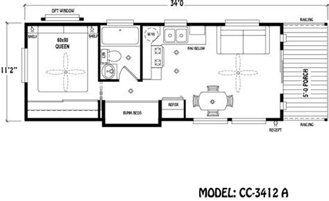 park model floor plans park model plans park model floor plan guest house