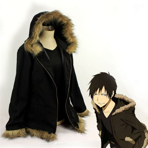 anime jacket durarara orihara izaya cosplay costumes vogue black coat