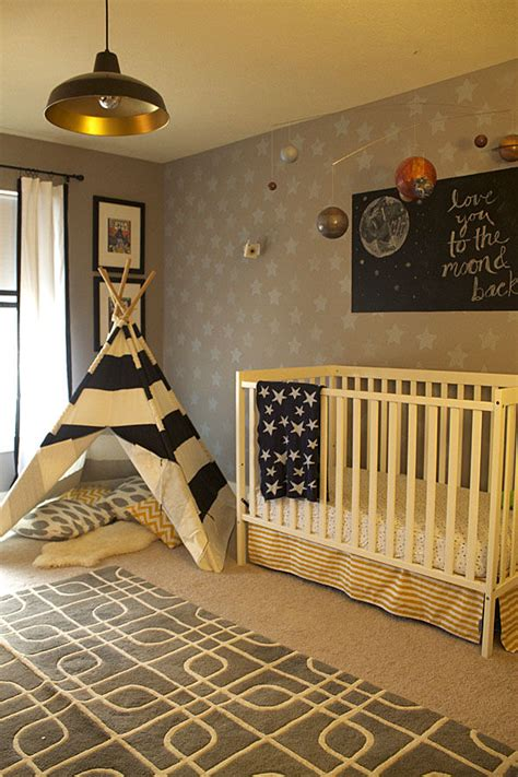 traditional space theme nursery pictures