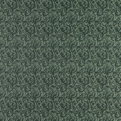 green damask upholstery fabric sherwood dark green and light green foliage damask