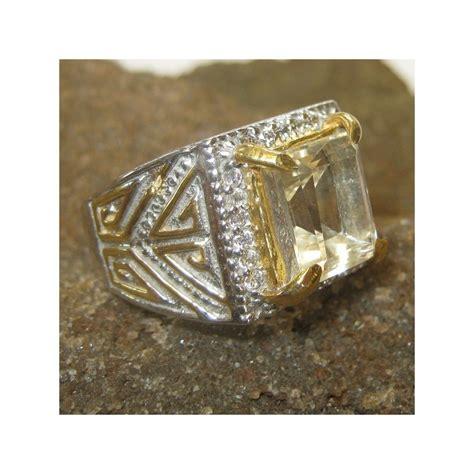 Cincin Citrin jual cincin pria dengan permata citrine ring 9 5us