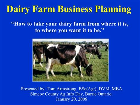 dairy farm business plan template dairy farm business planning