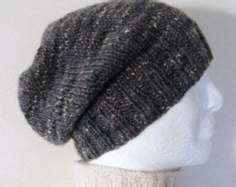 knitting patterns for beanies with needles slouch hat pattern mans handknit slouchy beanie