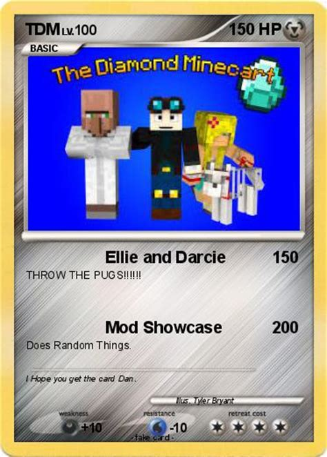 ellie and darcie the pugs pok 233 mon tdm 12 12 ellie and darcie my card