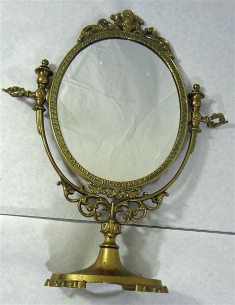 vintage table top mirror vintage brass table top display mirror