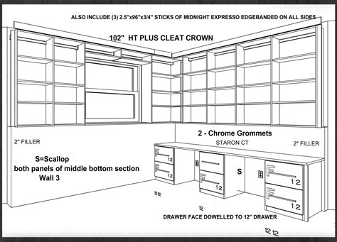 Accuplan Home Office Design Drafting by Closet Works Organization Solutions Home Office Storage