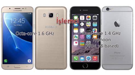 samsung galaxy j7 vs apple iphone 6