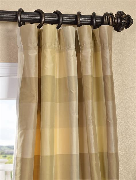 silk taffeta curtains newman silk taffeta plaid curtain for the home pinterest
