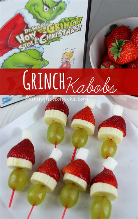 christmas snacks grinch kabobs recipe