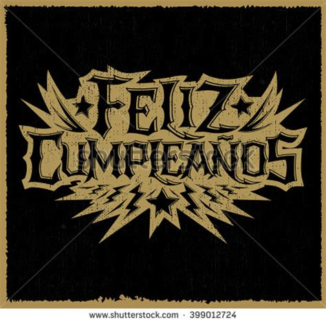 imagenes feliz cumpleaños rock feliz cumpleanos happy birthday spanish text stock vector