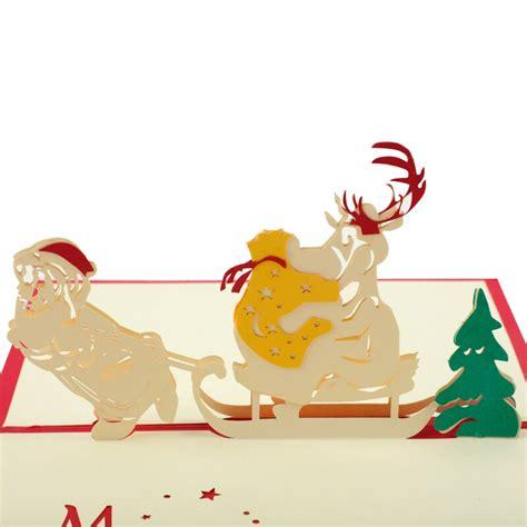 cevent  christmas cards pop  merry christmas series santas handmade paper greeting cards
