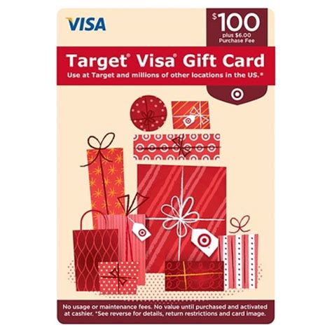 Fee Free Visa Gift Cards - visa gift card 100 6 fee target
