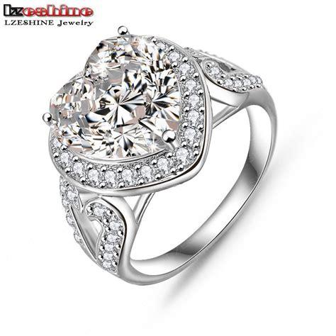 attractive big shape aaa zircon promise rings gift