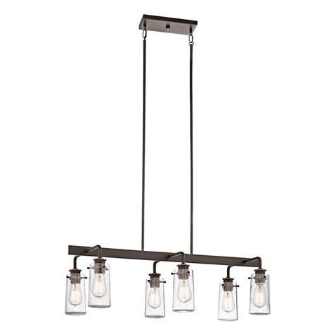 shop kichler lighting braelyn 34 in w 6 light olde bronze