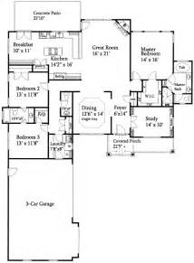Open Ranch Floor Plans Open Floor Plan Split Ranch 24352tw 1st Floor Master Suite Cad Available Den Office