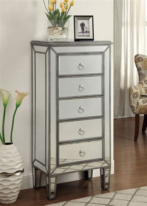 Silver Jewelry Armoire by Coaster 950046 Silver Glass Jewelry Armoire A Sofa Furniture Outlet Los Angeles Ca