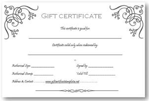 Free Printable Gift Certificates Template Free Printable Gift Certificate Templates Car Tuning