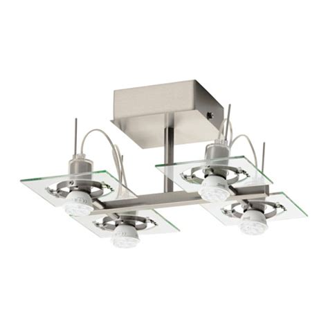 fuga ceiling spotlight with 4 spots chrome plated clear