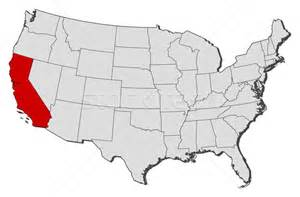 map of us with alabama highlighted map of the united states california highlighted vector