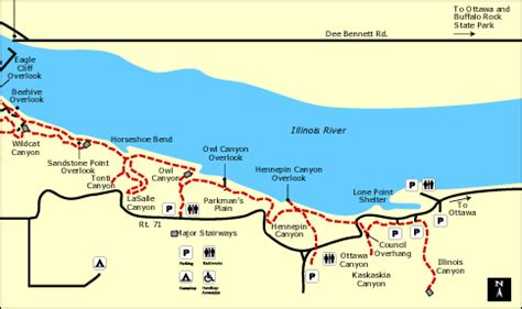 starved rock map illinois bike paths and maps
